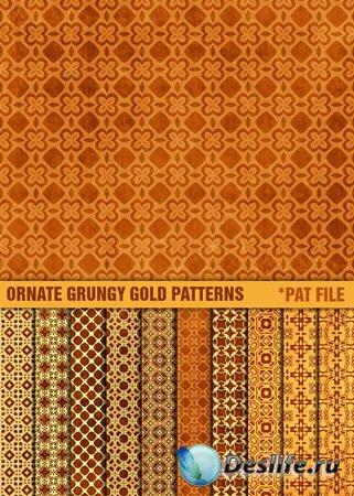 Золотые заливки для фотошопа + Текстуры