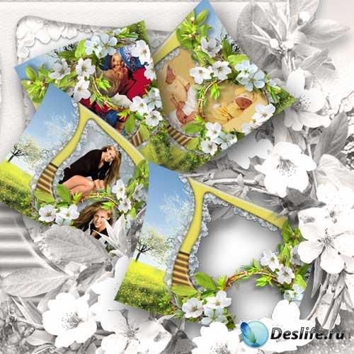 Рамка для фотошопа - Весенний цвет