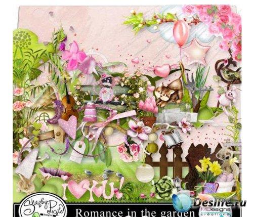 Скрап набор для фотошопа – Романтический сад