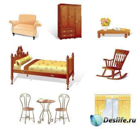 Векторные иконки мебели