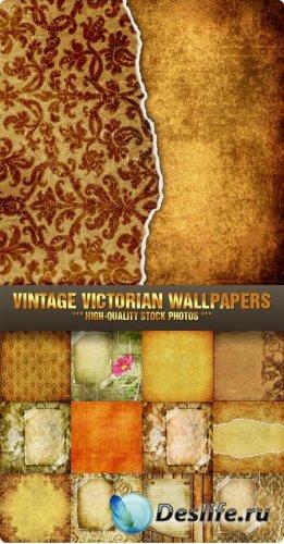 Фоны для фотошопа - Винтажные викторианские обои