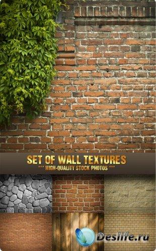 Фотоклипарт - Набор текстур стены