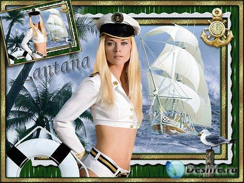 Костюм для фотошопа - Морячка