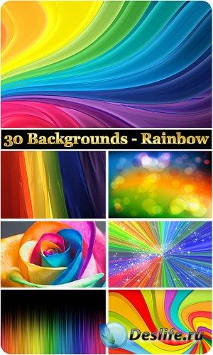 30 радужных фонов