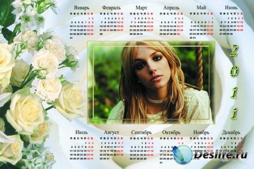 Рамка для фотошопа - Календарь 2011 год