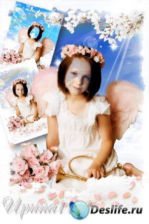 Детский костюм для фотошопа - Маленький ангел