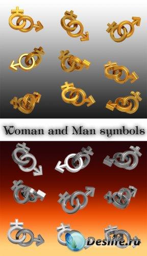 Клипарт - Женские и мужские знаки