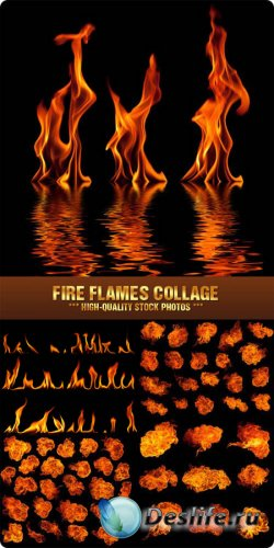 Stock Photo - Fire Flames Collage