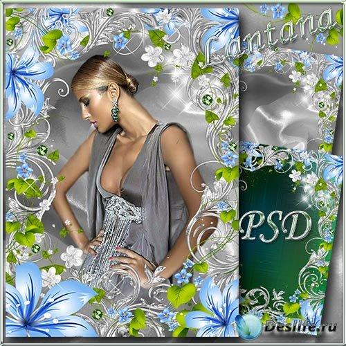 Рамка для фото - Лазурной лилии цветок