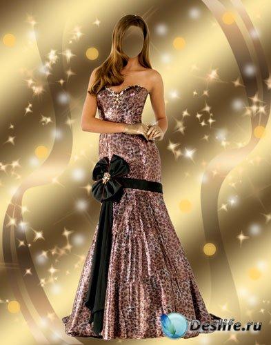 Костюм женский для фотошопа - Леди в вечернем платье
