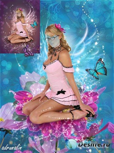 Женский костюм фотошоп - Цветочная фея