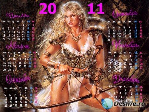 Календарь на 2011 год, 2 полугодие – Амазонка