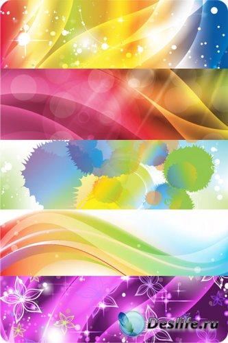 Абстрактные, красочные фоны в векторе