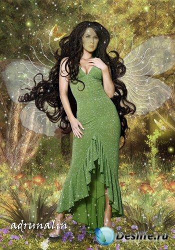 Костюм  для фотошопа - Лесная фея