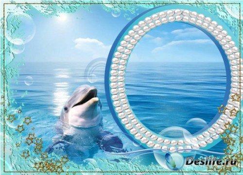 Рамка для фото - С дельфином