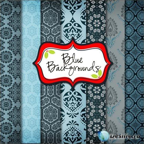 Текстуры для фотошопа - Голубые Орнаменты
