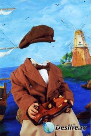 Костюм для фотошопа – Мальчик в кепке