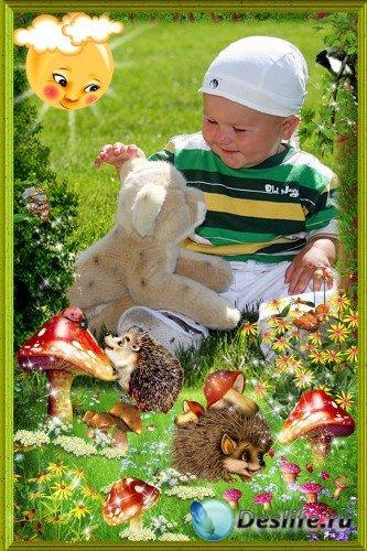 Детская фоторамка - Лесная сказочная поляна