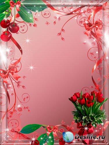 Рамка для фотошопа - Спелая вишня