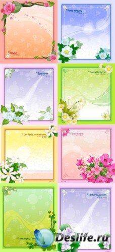 Векторные изображения - цветочные рамочки