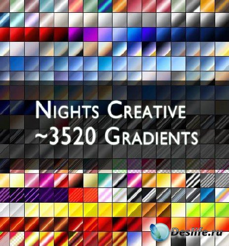 Набор из 3520 градиентов для Photoshop
