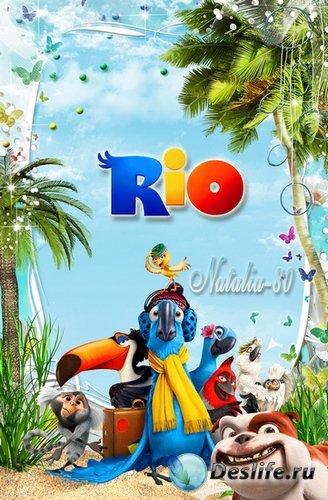 Рамочка для оформления детских фото с героями веселого м/ф Рио 2