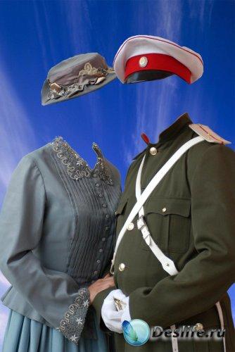 Костюм для фотошопа - Женщина с офицером