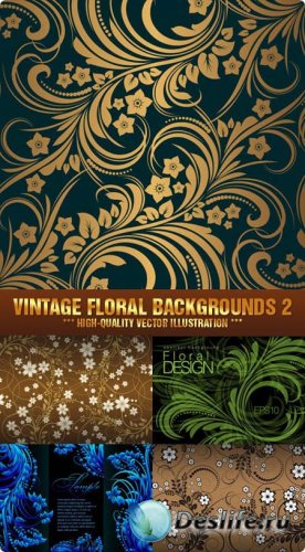Stock Vector - Vintage Floral Backgrounds 2