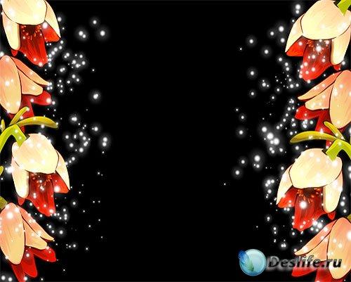 Свадебный футаж – Анимационная рамка с красивыми цветами