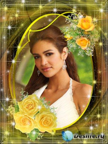 Рамка для фото - Аромат желтых роз