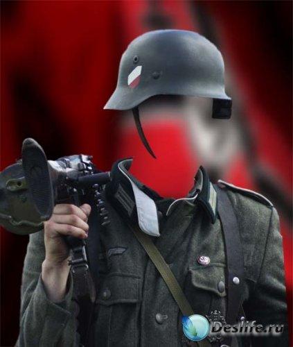 Костюм для фотошопа - Немецкий солдат