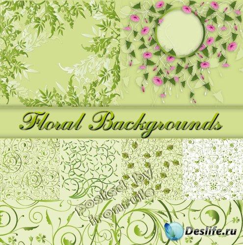 Растительные векторные фоны