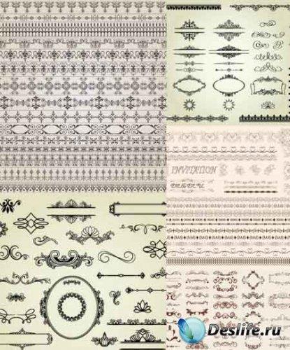 Векторные элементы дизайна / Retro Design Elements