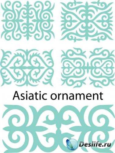 Векторные азиатские орнаменты / Asia ornament vector