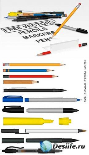 Векторные ручки и карандаши / pencil vector