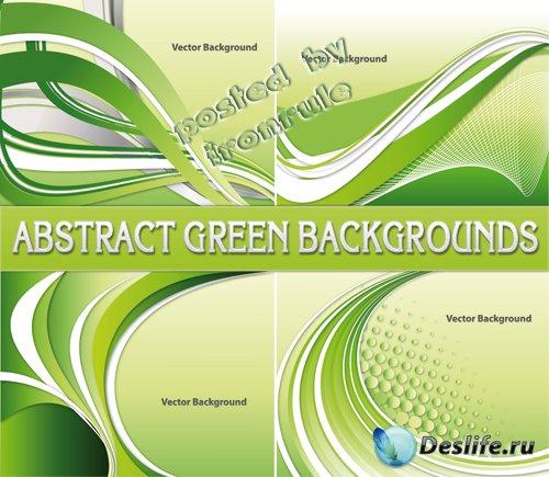 Абстрактные зеленые фоны