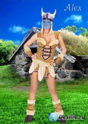 Костюм для фотошопа - Кельтская красавица
