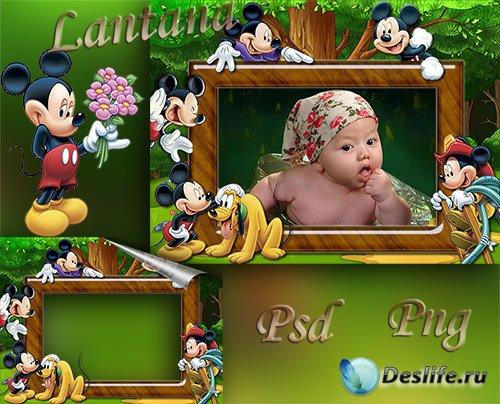 Детская рамка - Милый добрый Микки Маус