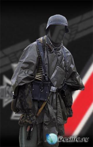 Костюм для фотошопа - Солдат SS