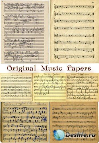 Текстуры для фотошопа - Музыкальные ноты в оригинале