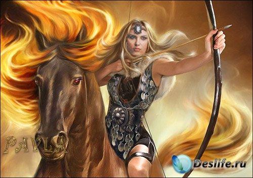 Костюм для Photoshop - Амазонка на коне