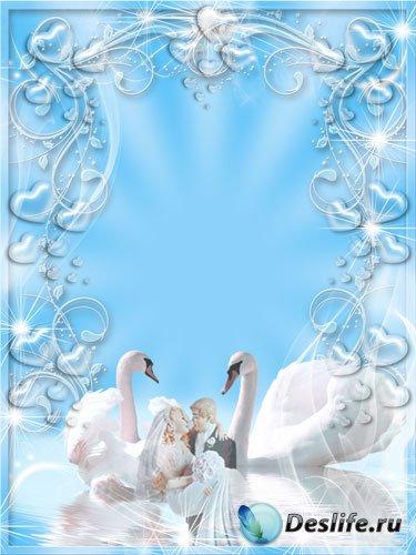 Свадебная рамка - Лебединая верность