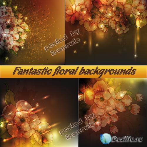 Фантастические цветочные фоны