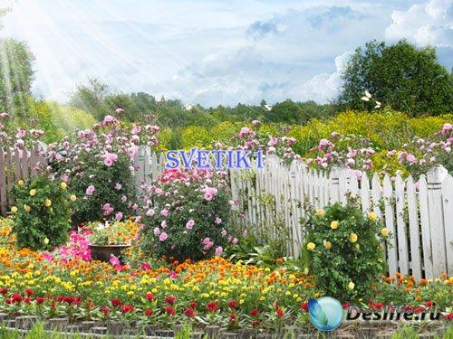 PSD исходник - В саду