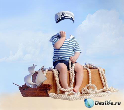 Костюм для фотошопа - Маленький моряк