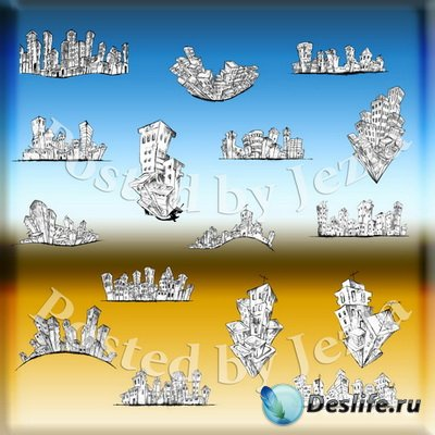 PSD Исходники - Мультяшный Город