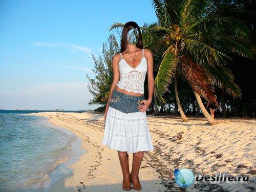 Костюм женский для фотошопа - Песчаный пляж