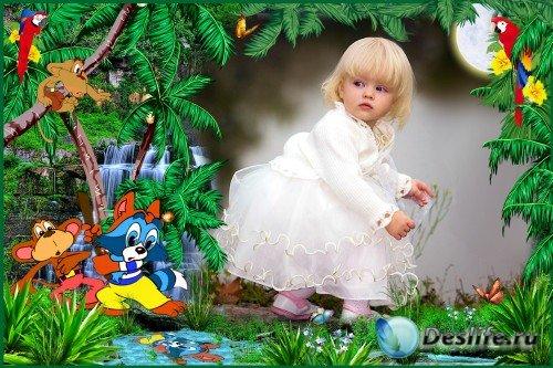 Детская фоторамка - Тот, кто сидит в пруду