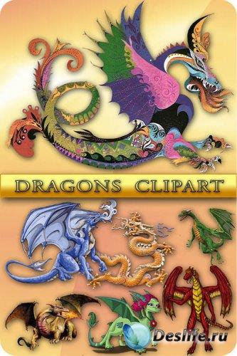 Клипарт - драконы