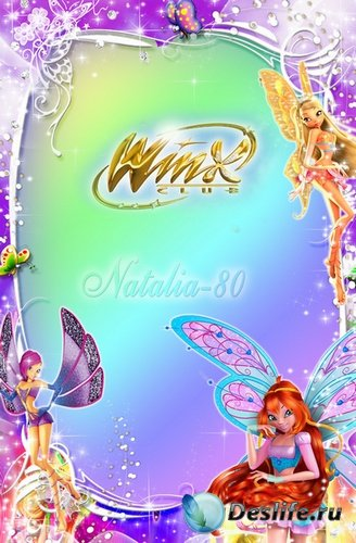 Яркая детская рамочка для фото с героями м/ф Винкс 3D